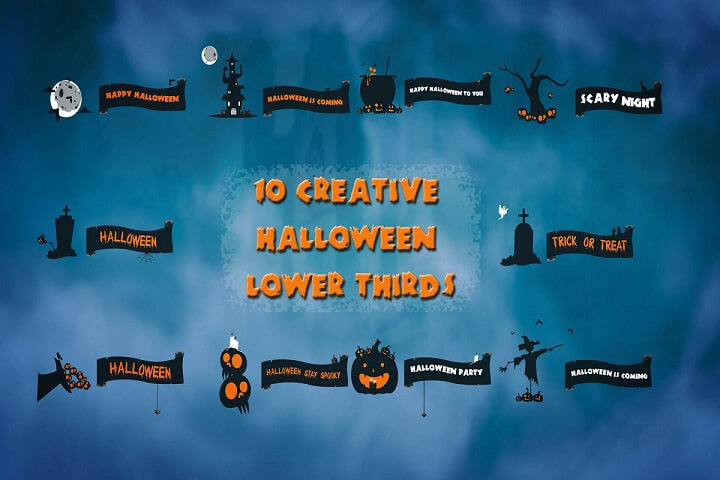 10 Creative Halloween Lower Thirds is a spooky Motion Graphics template.