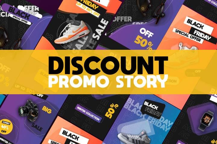 Discount Promo Story is a Fashion And Modern After effects template