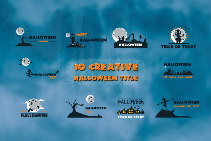10 Creative Halloween Title is a spooky Motion Graphics template.