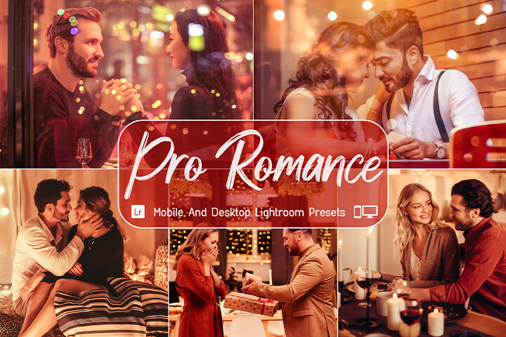 9 Pro Romance Lightroom Presets, Valentine's Day, Romantic Couple, Instagram Blogger, Lovely Lifestyle, Easy to use