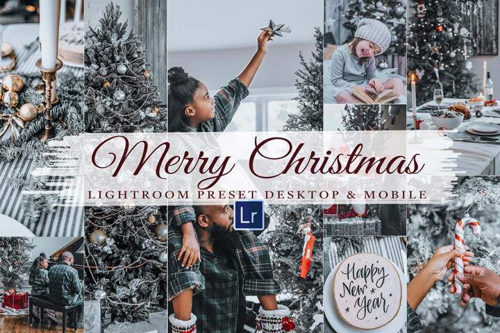 Merry Christmas Lightroom Mobile & Desktop Presets, Luxury Holiday Lifestyle Instagram Blogger , Xmas Moody Winter, Family Photo Editing