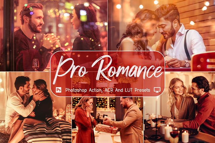 Pro Romance Lightroom Presets Lightroom Mobile Presets Photoshop Action