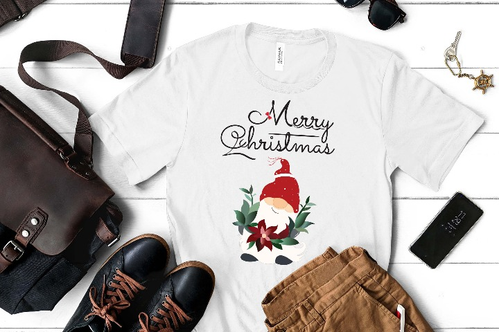 Santa Claus Christmas 02 SVG, Merry XMAS Ai, Easy to use Gnomes DXF, Cute Snow EPS, Tree Typography, Kids Funny Shirt File for Cricut & Silhouette, Png