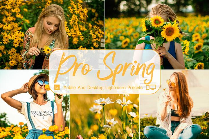 Pro Spring Lightroom Presets Lightroom Mobile Presets Photoshop Action