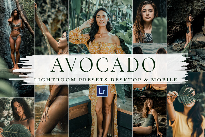 8 AVOCADO Lightroom Mobile and Desktop Presets, Luxury Holiday Lifestyle Instagram Blogger, Green Tones Filter, Beach Travel Photo Editing