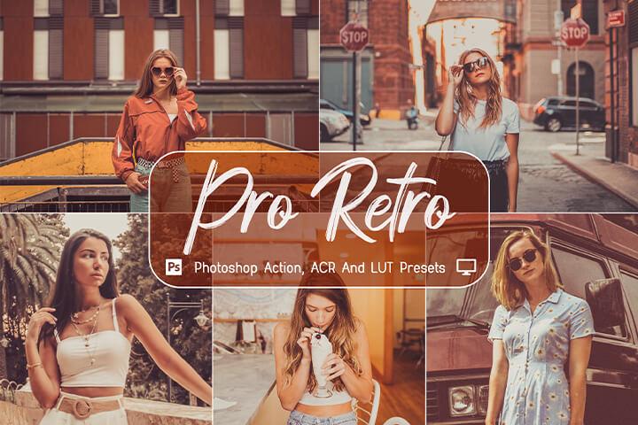 Pro Retro Lightroom Presets Lightroom Mobile Presets Photoshop Action