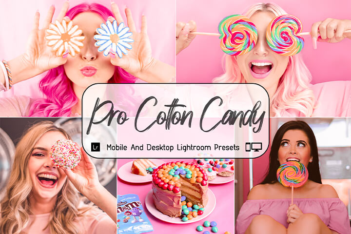 Pro Cotton Candy Lightroom Presets Lightroom Mobile Presets Photoshop Action