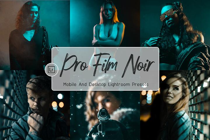 Pro Film Noire Lightroom Presets Lightroom Mobile Presets Photoshop Action