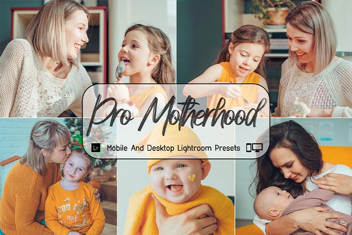 Pro Motherhood Lightroom Presets Lightroom Mobile Presets Photoshop Action