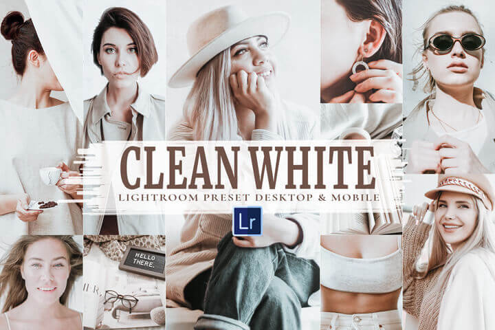 10 Clean White Mobile and Desktop Lightroom Presets, light Vibrant Theme, Soft Photo Filters for Clean White and bright Colors indoors