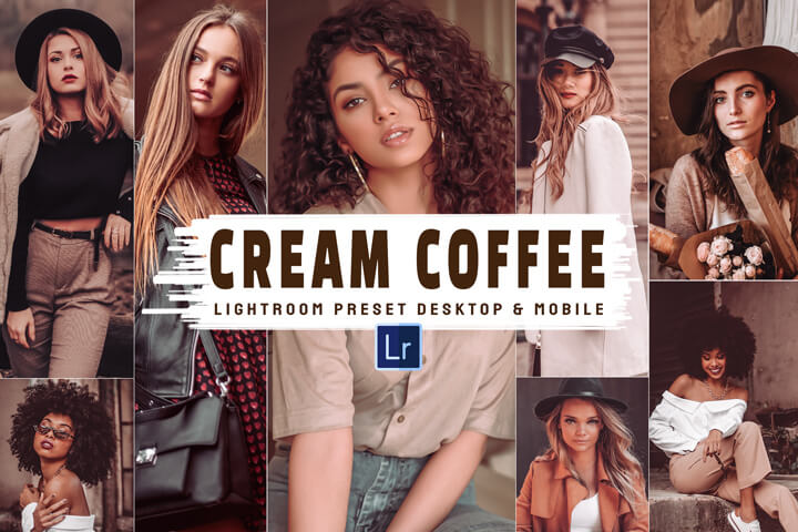 7 Cream Coffee Mobile and Desktop Lightroom Presets, caramel milky theme, lifestyle blogger for photography Instagram, vibrant tone