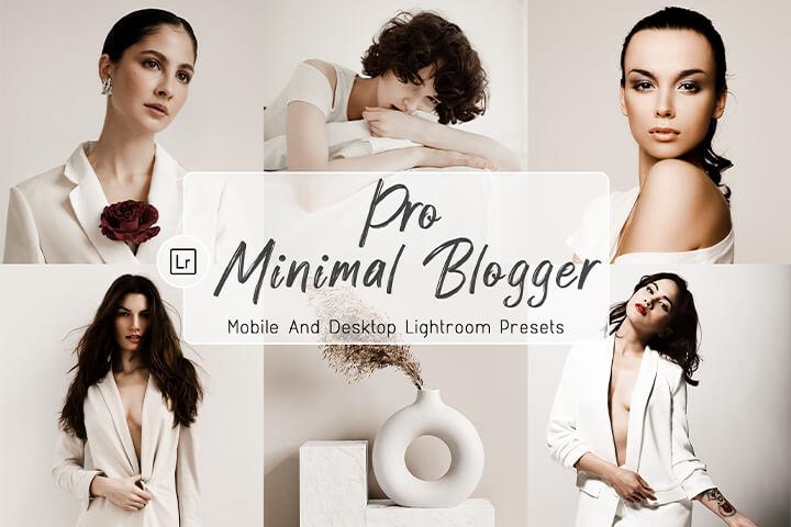 Pro Minimal Blogger Lightroom Presets Lightroom Mobile Presets Photoshop Action