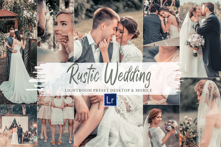 10 Rustic wedding Mobile and Desktop Lightroom Presets, bride celebration photo filter for Instagram influencer, editing theme for the party