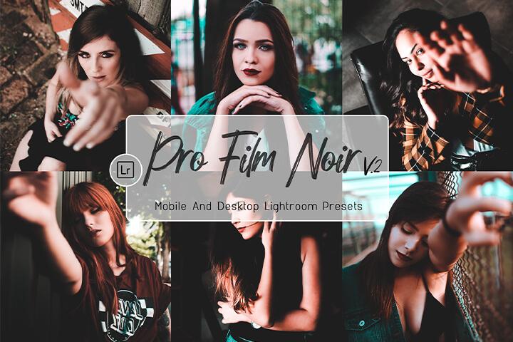Pro film Noir Lightroom Presets Lightroom Mobile Presets Photoshop Action