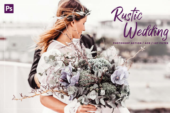 10 Rustic Wedding Photoshop, Action, Luts Filter, Acr Presets, bride celebration photo filter for Instagram influencer, luxury party theme
