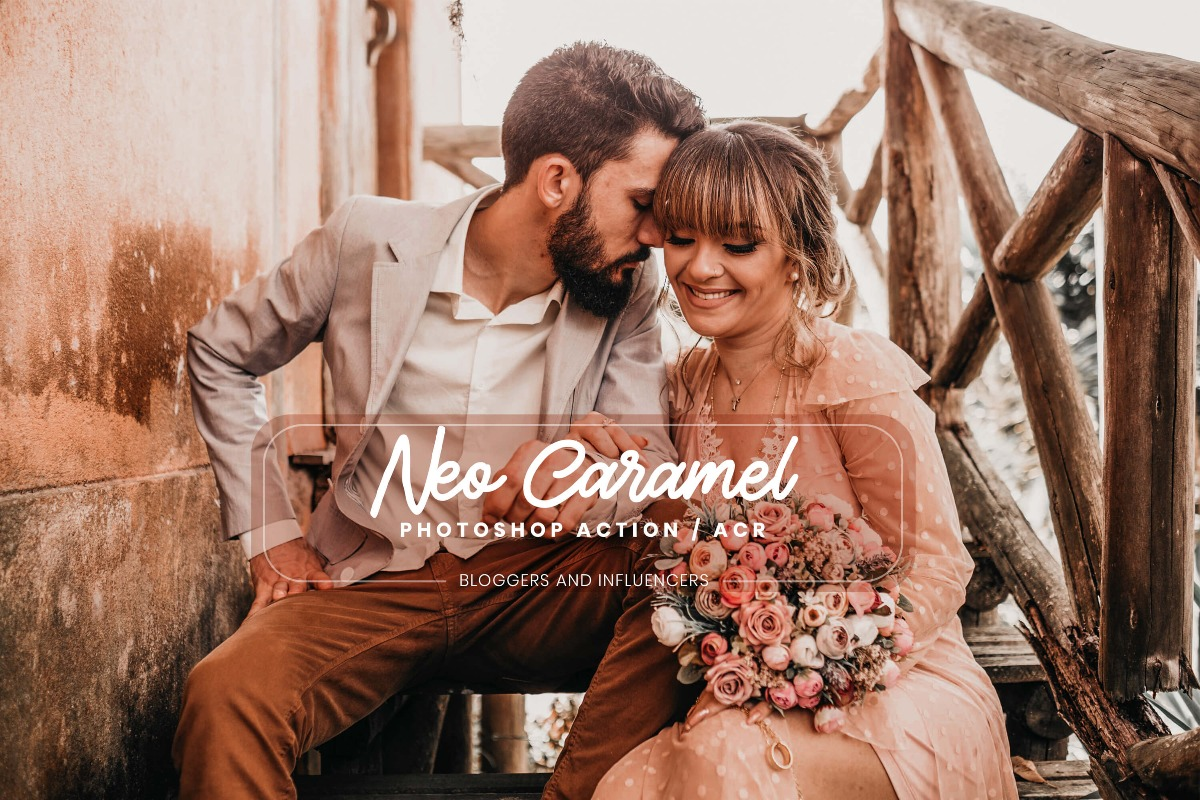 15 Photoshop Actions ACR Presets Neo Caramel Ps Actions Instagram Travel Photography 3motional Presets Blogger Lifestyle Influencer Tone