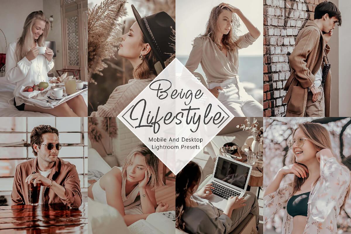 10 Lightroom Presets Beige Mobile Lightroom Desktop Presets Lifestyle golden warm moody Instagram Presets 3Motional Mobile Presets Blogger