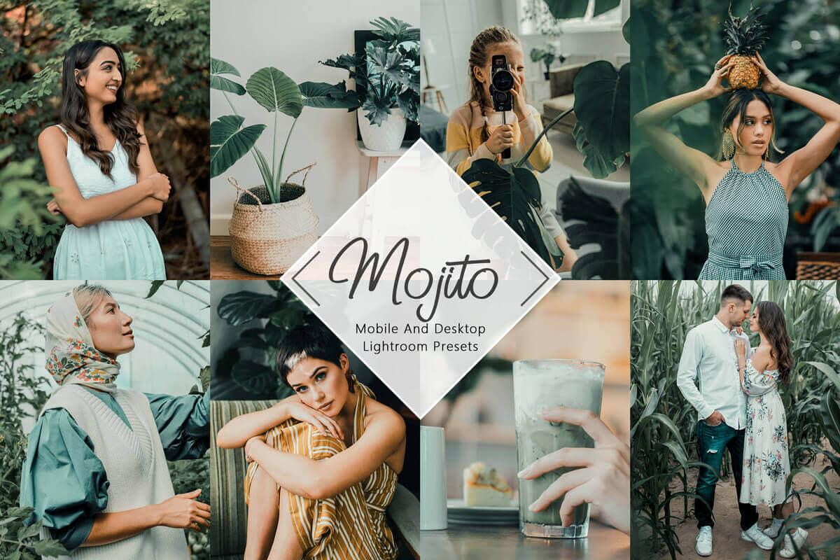 8 Mobile Lightroom Presets Neo Mojito Desktop Lightroom Mobile Presets Mojito outdoor and indoor summer moody Instagram Presets 3Motional Presets Mobile