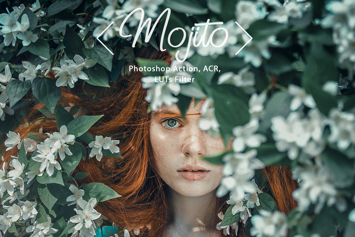 8 Photoshop Actions ACR Presets LUT Filters Mojito outdoor indoor summer moody Instagram Preset 3Motional Presets Blogger Lifestyle Influencer Tone