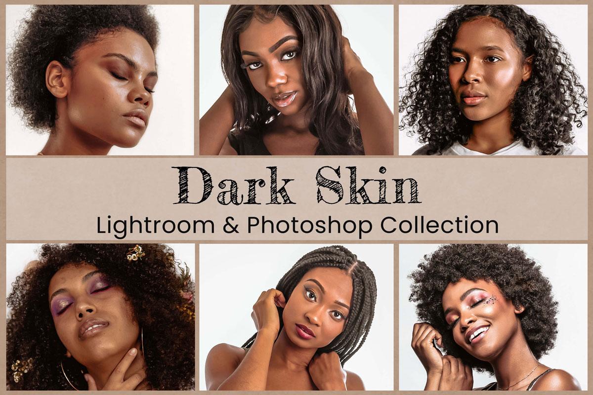 6 Dark Skin Lightroom Preset Mobile lightroom filter Photoshop Action Desktop Preset ACR LUT Preset Instagram Portrait Glow Brown Tan Skin