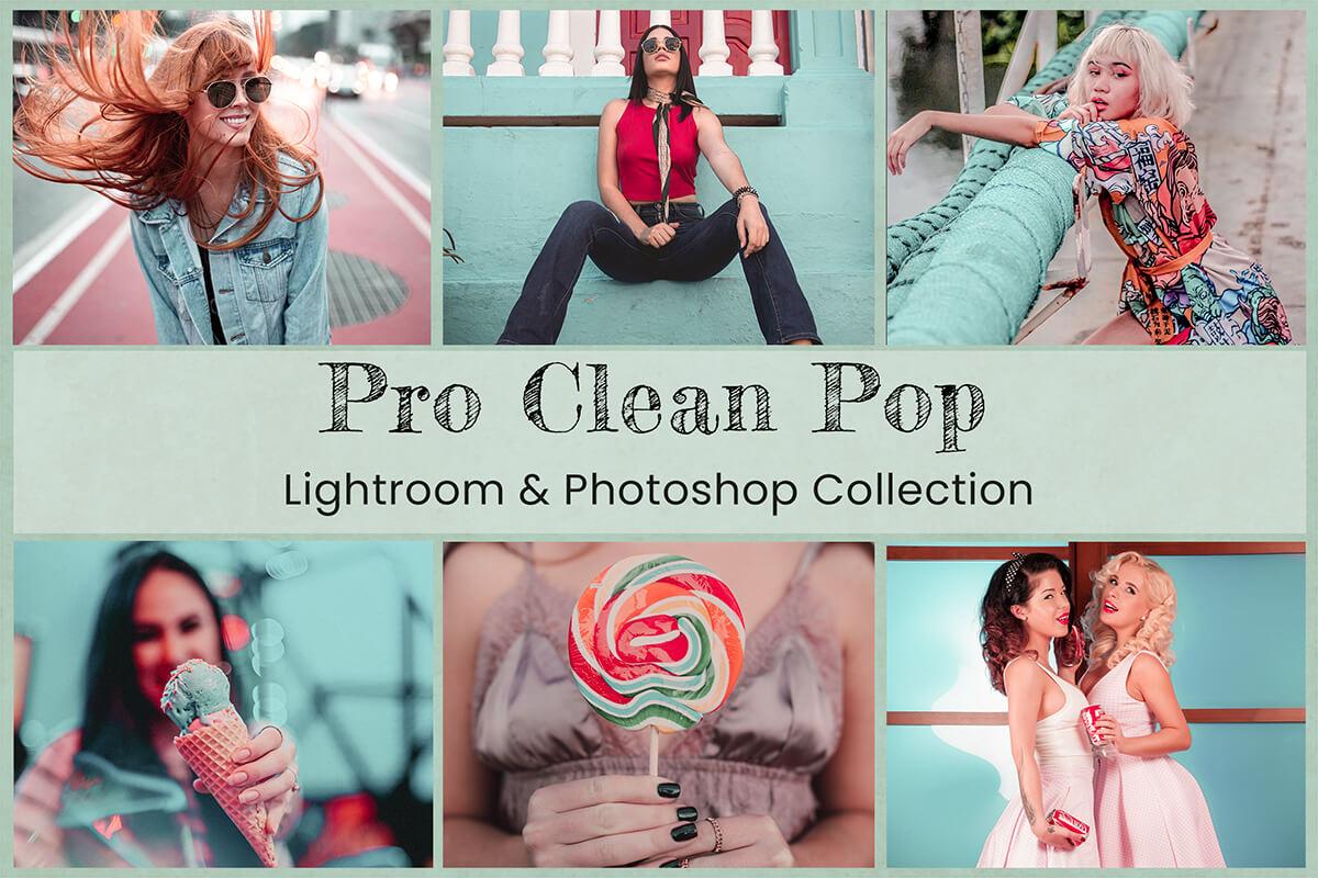 10 Pro Clean Pop Collection | Lightroom Presets Mobile Presets Photoshop Action ACR