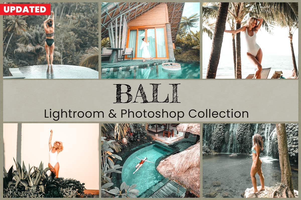10 Bali Lightroom Presets Desktop Lightroom Mobile Presets Photoshop Actions ACR Presets Tropical Green Moody Summer Instagram Photo Editing