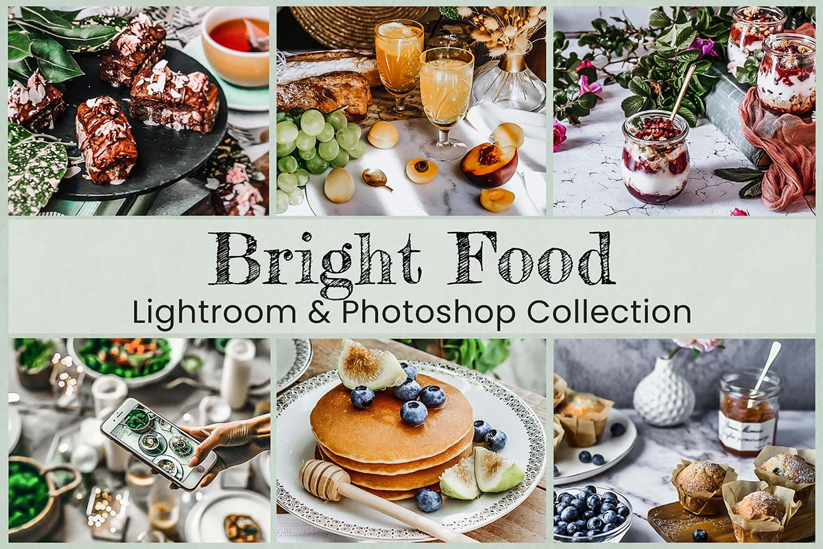 6 Bright Food Lightroom Preset Mobile Lightroom Desktop Preset Photoshop Action ACR Preset Vibrant Color for Instagram Filter For Blogger