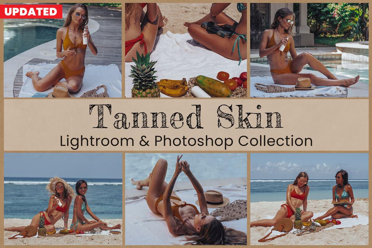 15 Tanned Skin Photoshop Actions presets lightroom filters photo presets mobile lightroom preset for Instagram presets desktop mobile preset