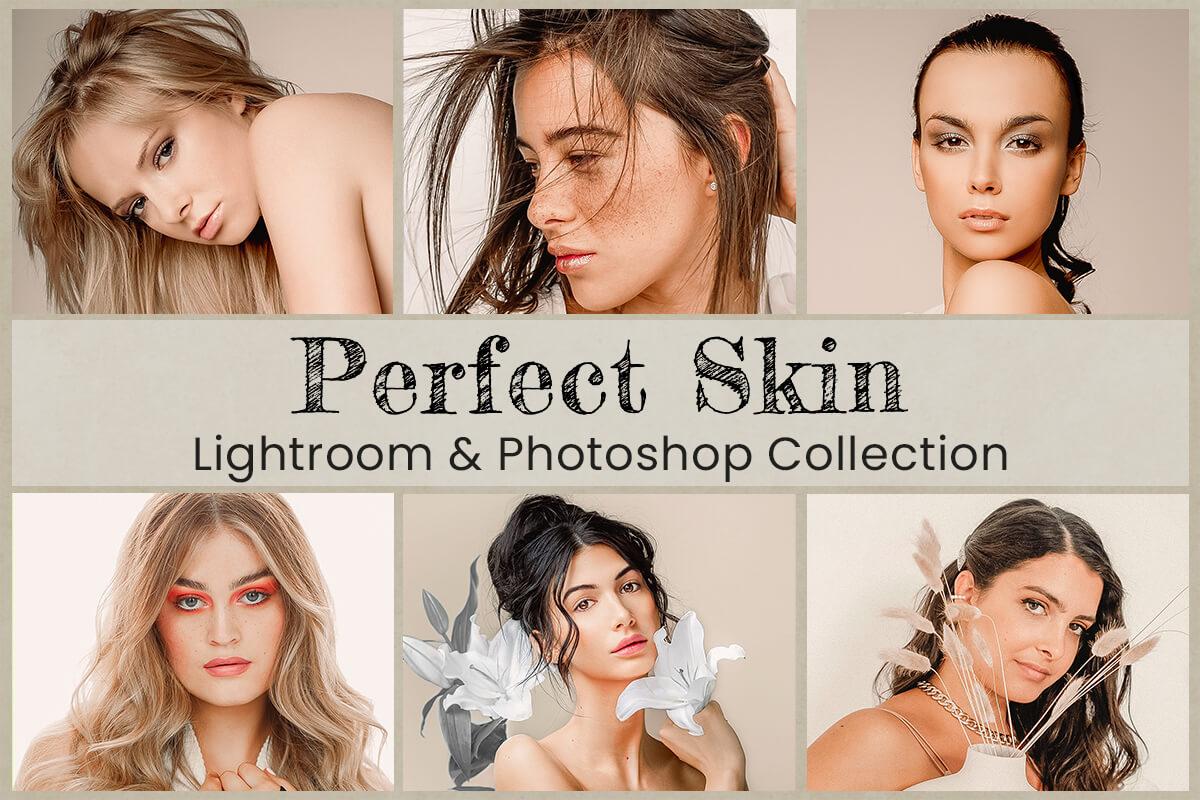 18 Perfect Skin Tone Lightroom Preset Photoshop action Mobile Preset for Instagram ACR LUT Filter Beauty Portrait Soft Clean Bright Preset