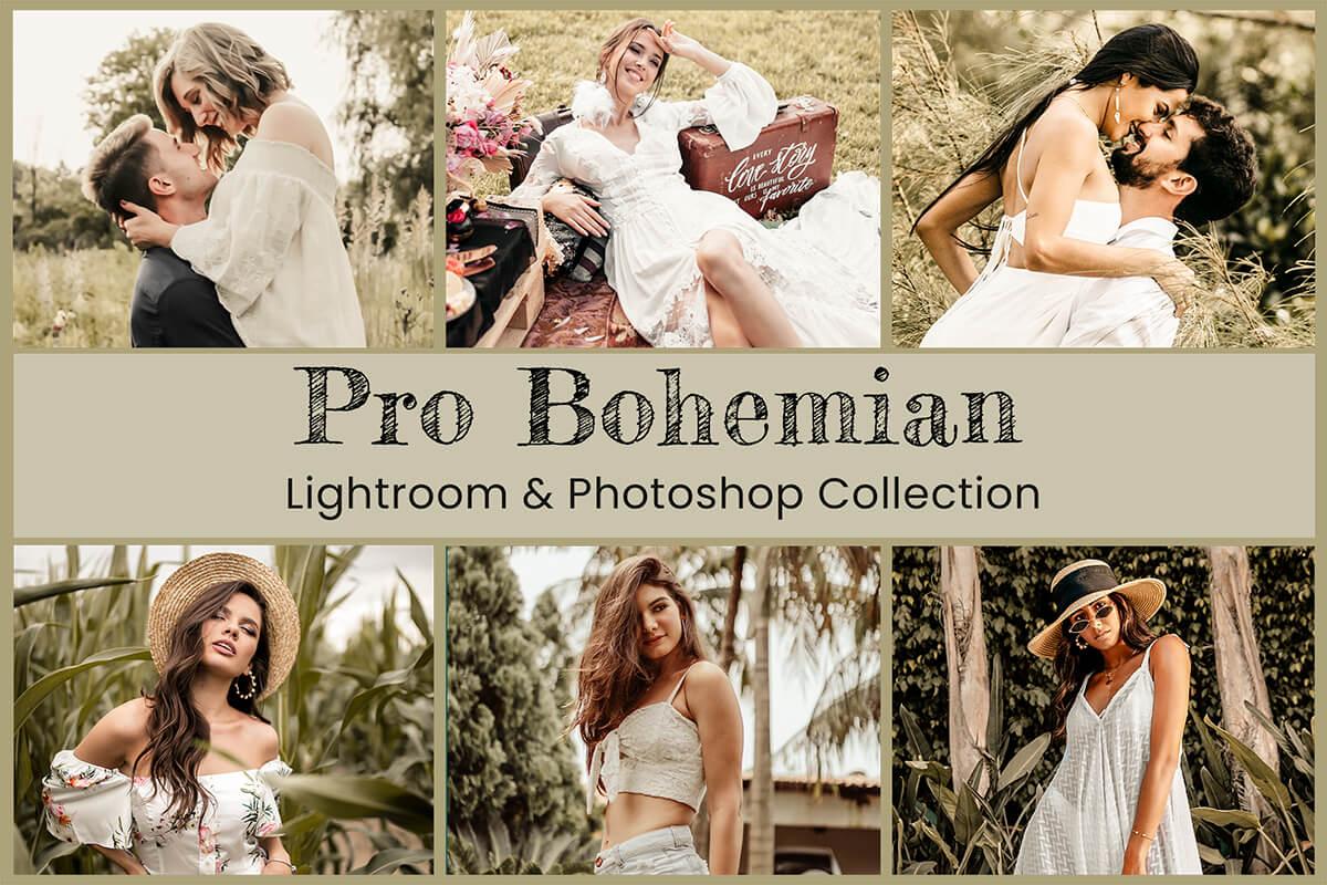 14 Pro Bohemian Photoshop Action Lightroom Preset Desktop Lightroom Mobile Preset ACR Preset Warm Moody Bright Vintage Rustic VSCO Lifestyle