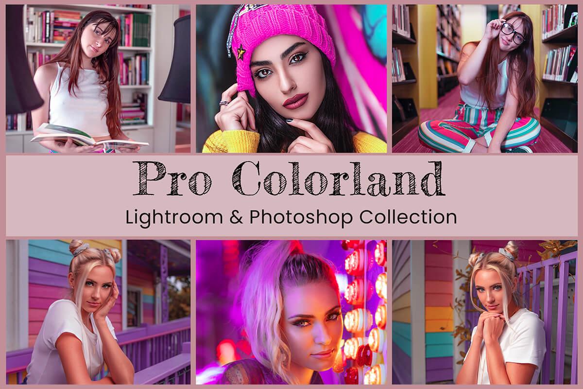 10 Pro Colorland Lightroom Presets Mobile Presets Desktop Preset Photoshop Action ACR Preset Instagram Preset Vibrant Presets Fashion Filter