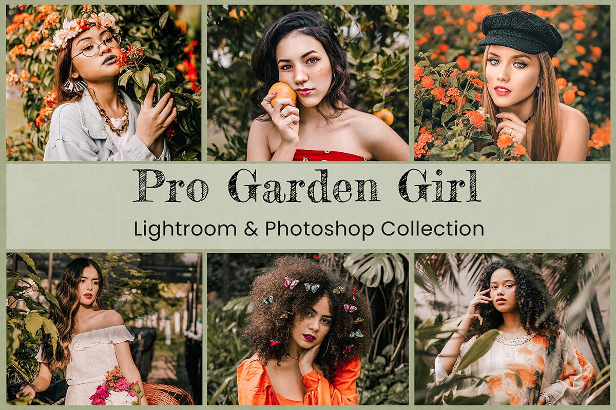 11 Pro Garden Girl Lightroom Presets Desktop Lightroom Mobile Presets Photoshop Actions ACR Presets Instagram Bloggers Outdoor photography