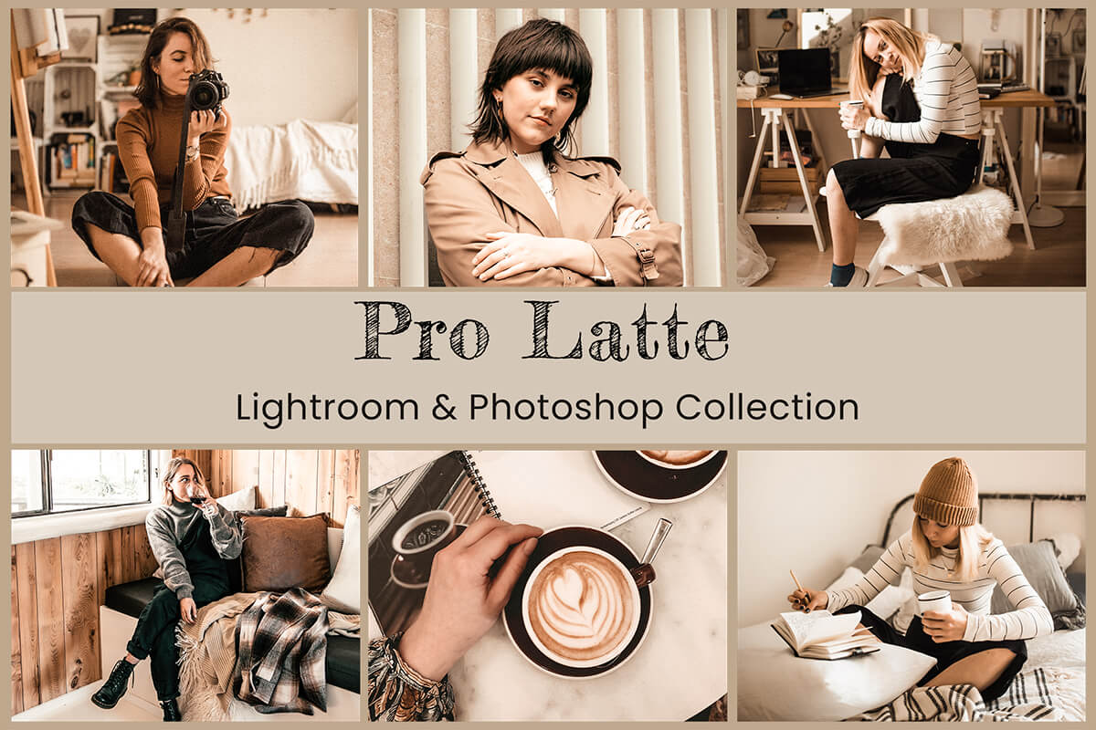 13 Pro Latte Lightroom Presets Desktop Lightroom Mobile Presets Photoshop Actions ACR Presets Instagram Presets Fashion Warm Vanilla Presets