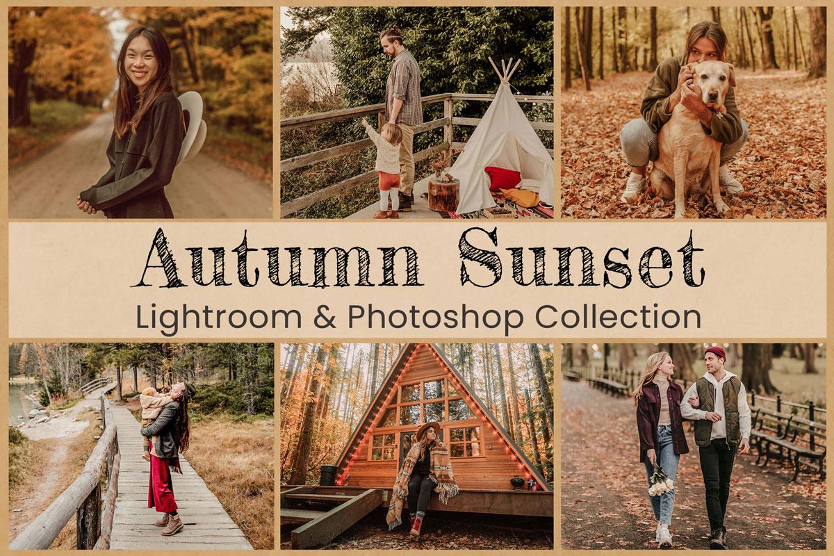 Lightroom Mobile Presets Nature Photography Photoshop Travel Bloggers Instagram Fall Filter Vibrant Lifestyle Autumn sunset Golden Wedding