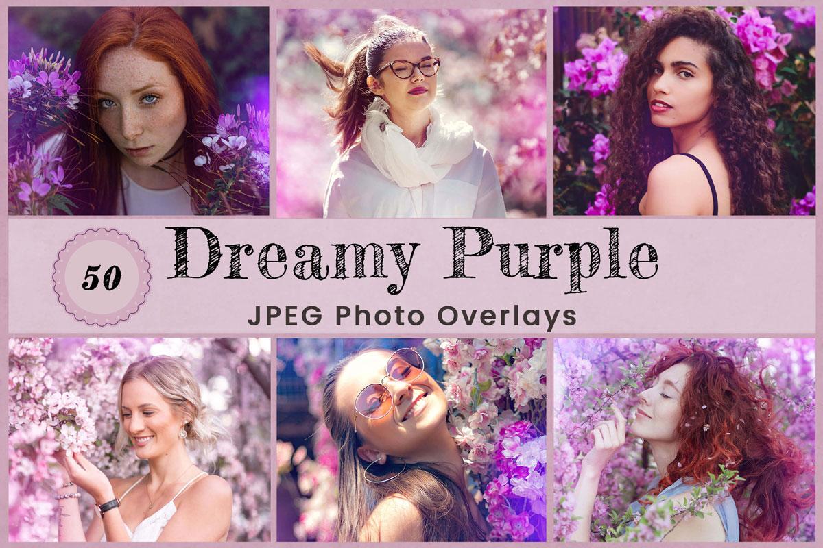 Purple Digital Overlay Photo Backdrop Digital Photography backdrop, Digital background, Digital Art, Birthday Backdrop, Crystal Light flare
