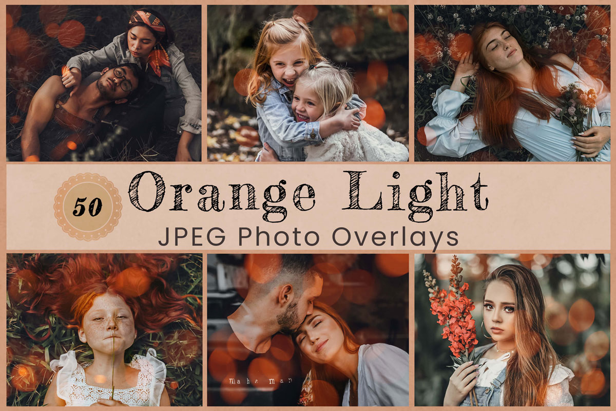 50 Orange Light Digital Overlay Backdrop Photography Overlay Photoshop Wedding Backdrop Happy Fall Design School Vintage Photo Overlay Party