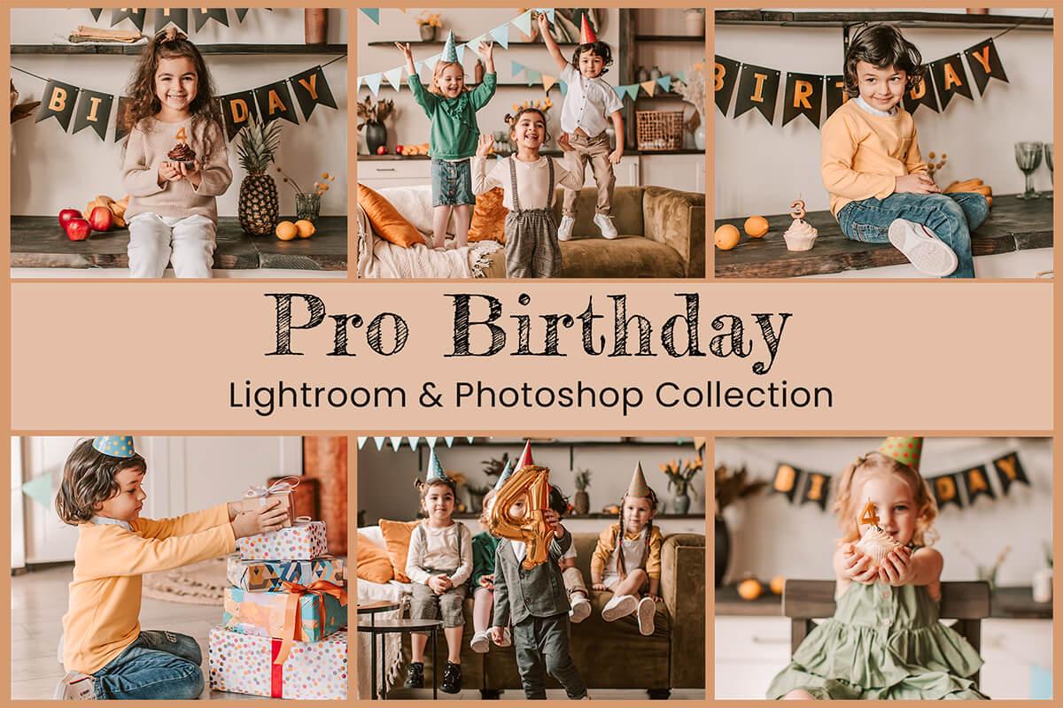 10 Pro Birthday Lightroom Preset Mobile Preset Desktop Lightroom Photoshop Action ACR Pastel Presets Color Pop Vibrant Presets Bright Preset