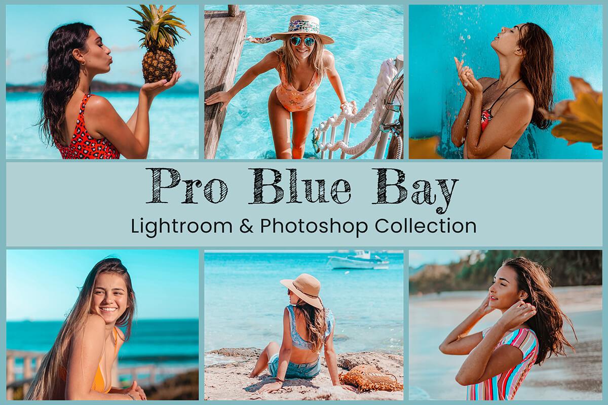 10 Pro Blue Bay Presets Lightroom Mobile, Travel Photography Photoshop Presets, Beach Photography, Summer Photo Preset for Instagram filter