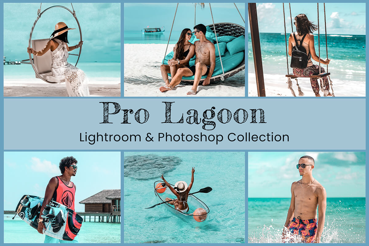 Lightroom Mobile Presets Photoshop Filter Instagram Travel Blogger Lagoon Beach Lifestyle Photography Tan Skin Bright Blue Nature Influencer