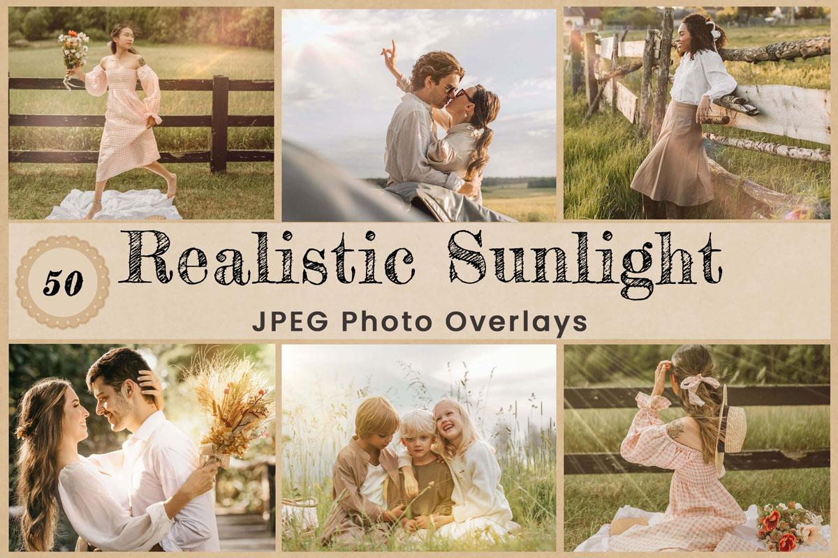 Natural Sunlight Digital Overlays Backdrops Background Photography nature sunset photo editing wedding Digital download photoshop Overlay lens flare sunshine
