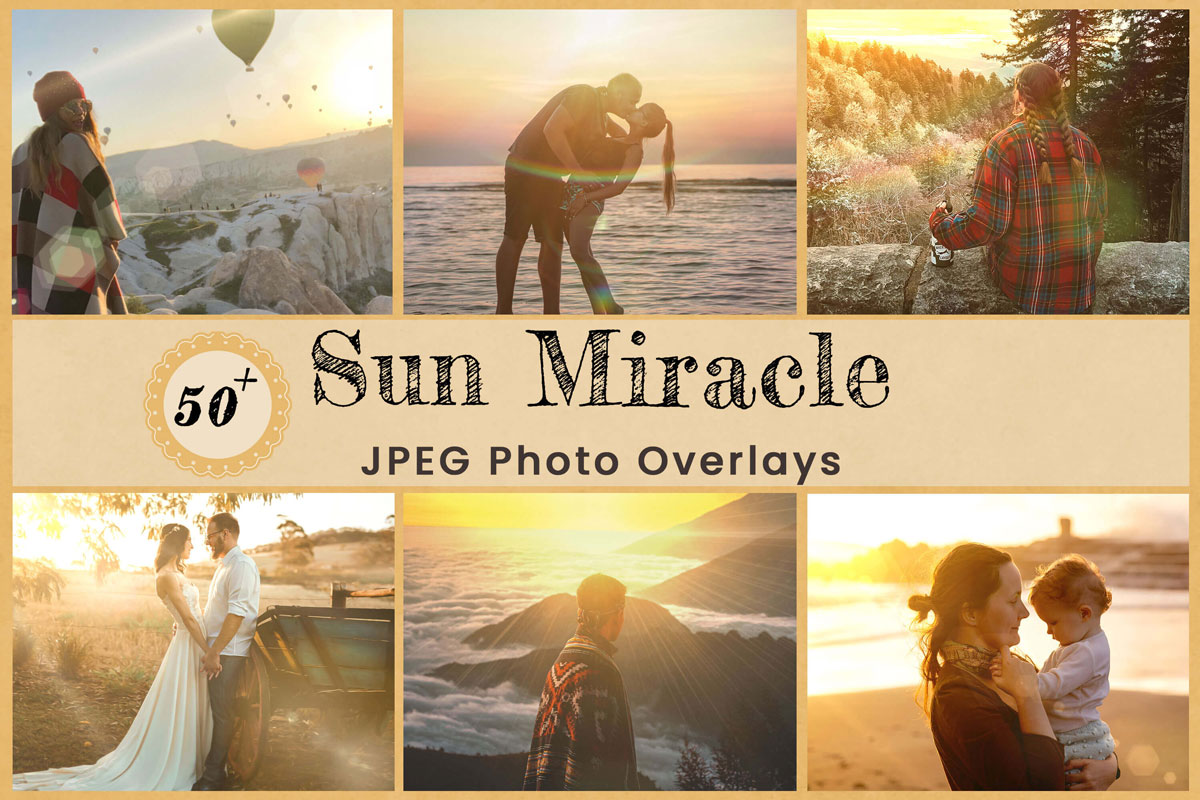 Digital Overlays Backdrops Background Photoshop Photography Sun Miracle Lens Flare Editing Gold light leak Rays Wedding Birthday Download