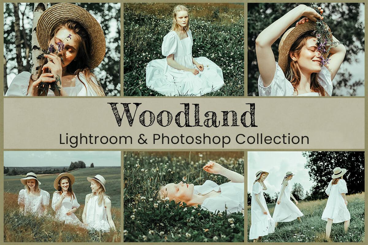 6 Woodland Lightroom Preset Mobile Preset Photoshop Action LUT Moody Nature Photography Preset for Instagram Filter Sage Green Photo Preset
