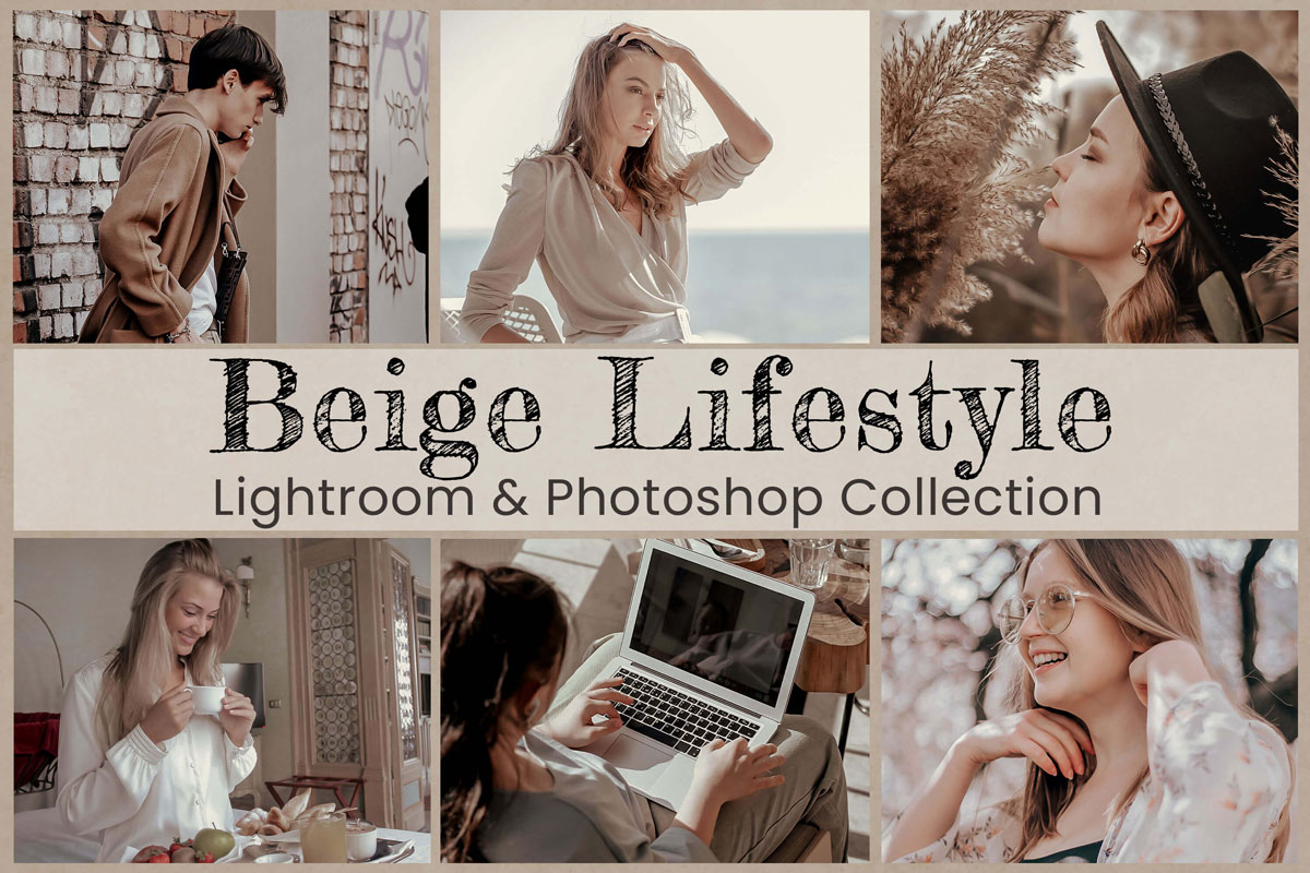 Beige Lifestyle Lightroom Mobile Presets Photoshop Filters Aesthetic Blogger Instagram Family Golden Brown Khaki Clean Photography Actions