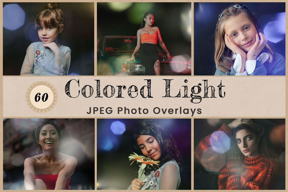 Digital Overlays Backdrops Background Photography Colored Light leak Crystal Bokeh Photoshop Birthday Wedding Party Newborn flare Download