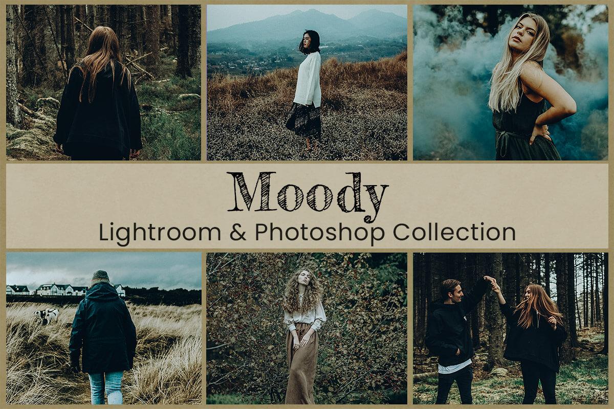 Moody Lightroom Mobile Presets Photoshop Filters Instagram Desktop Cinematic Video LUTs Wedding Travel Bright Blogger Dark Rich Earth Tones