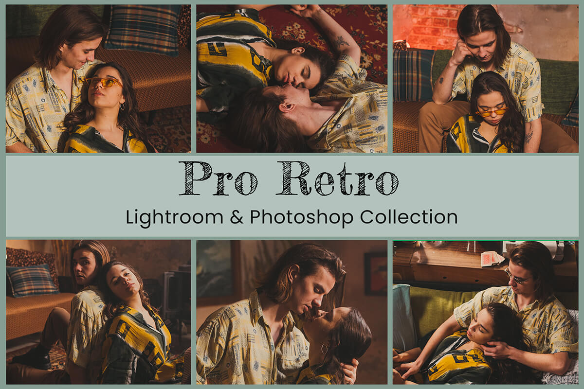Retro Lightroom Mobile Presets Photoshop Filters Desktop Instagram Blogger Vintage Analog Film Photography VSCO Polaroid Warm Boho Cinematic