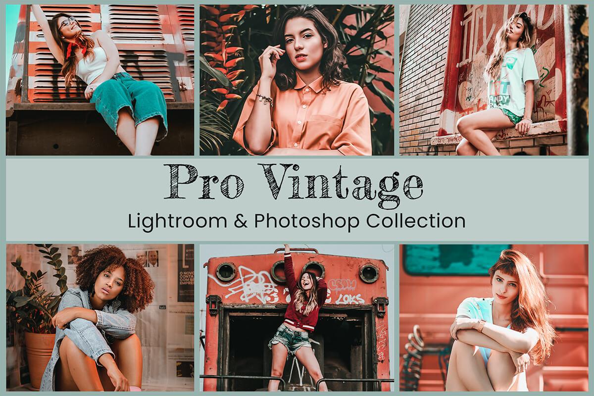 Vintage Lightroom Mobile Presets Photoshop Filters Desktop Instagram Photography Fashion Film Classic Moody Rustic Blogger Analog Video LUTs