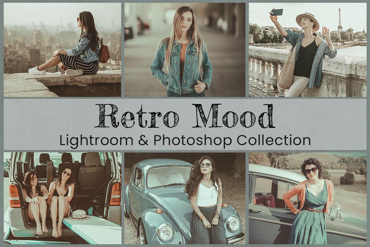 Retro Moody Lightroom Mobile Presets Photoshop Filters Blogger Vintage Instagram Analog Film Video LUTs Photography VSCO Polaroid Cinematic