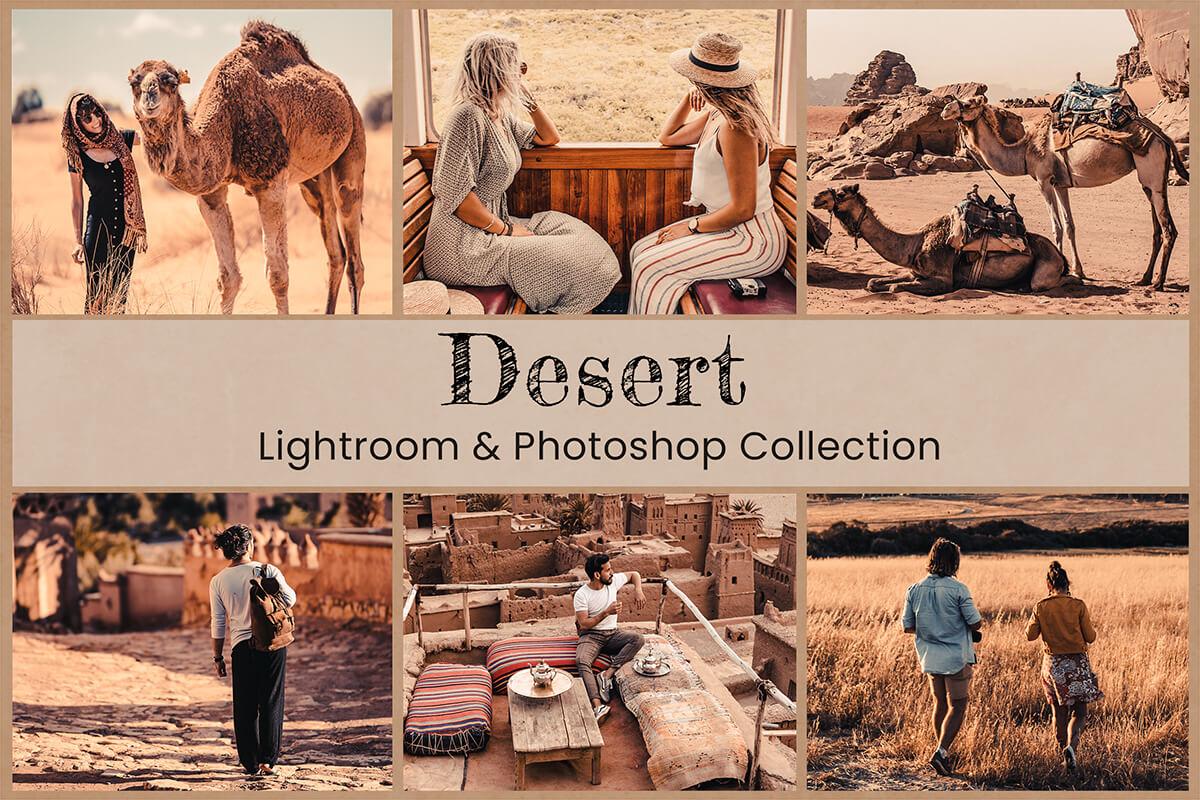 Desert Lightroom Mobile Presets Photoshop Actions Instagram Video LUTs Filter Travel Blogger Warm Western Hiking Brown Bright Boho Lifestyle