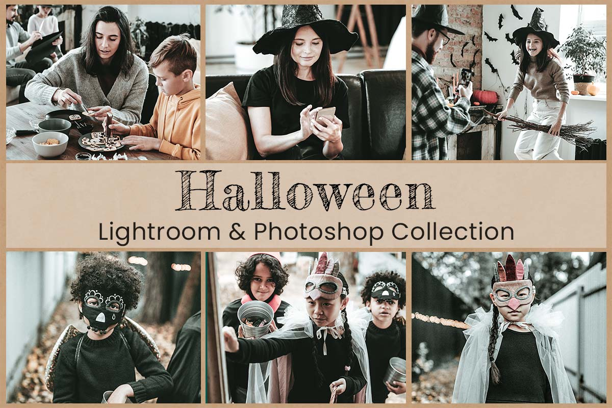 Halloween Lightroom Mobile Presets Photoshop Actions Filters Fall Moody Modern Scary Instagram Dark Spooky Autumn Pumpkin Photography LUTs